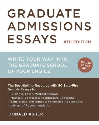 Graduate Admissions Essays By Asher, Donald
